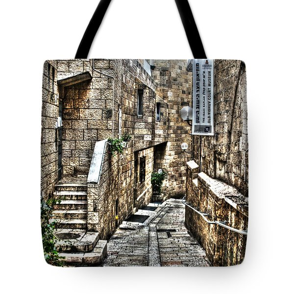 Tote Bag featuring the photograph Downtown In Jerusalems Old City by Doc Braham