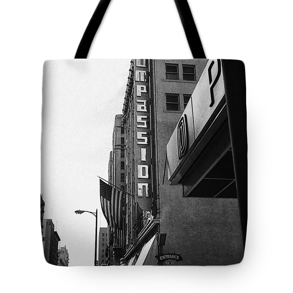Tote Bag featuring the photograph Downtown La - Mid '70's by Doc Braham
