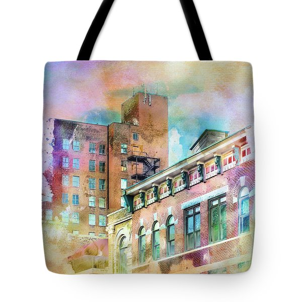 Downtown Living In Color Tote Bag