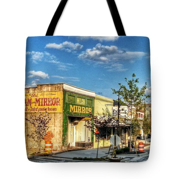 Downtown Milan Tote Bag