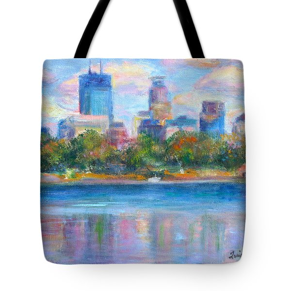 Downtown Minneapolis Skyline From Lake Calhoun Tote Bag