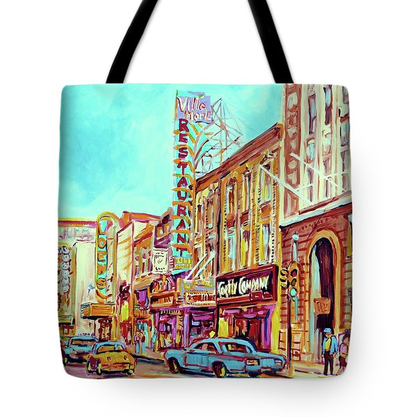 Downtown Montreal Tote Bag by Carole Spandau