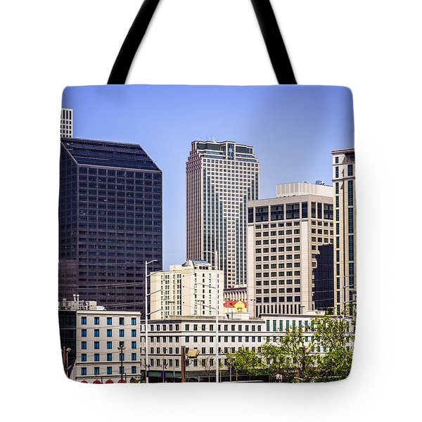 Downtown New Orleans Buildings Tote Bag by Paul Velgos