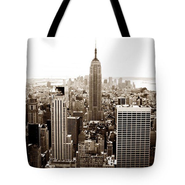 Downtown New York City Tote Bag by John Rizzuto