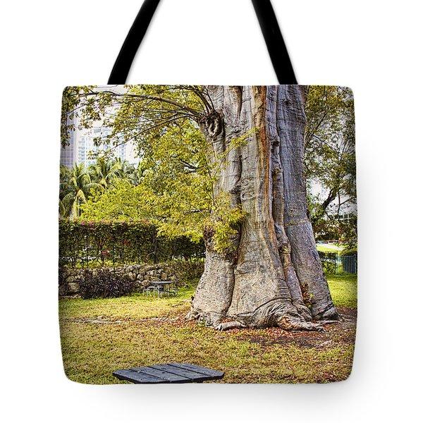 Downtown Old Tree Tote Bag by Eyzen M Kim