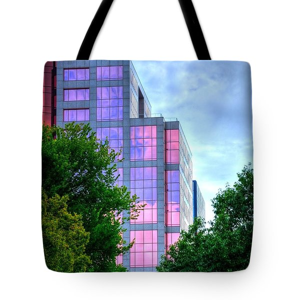 Downtown Reflections 17341 Tote Bag