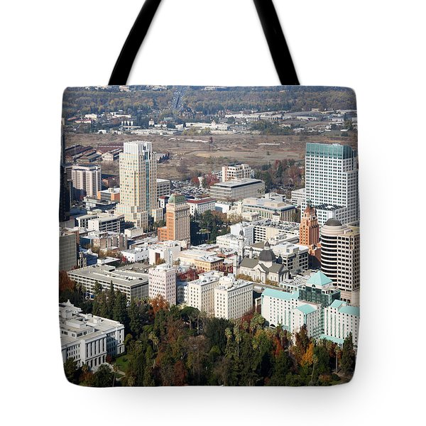 Downtown Sacramento And Capitol Park Tote Bag by Bill Cobb