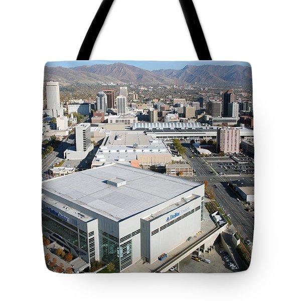 Downtown Salt Lake City Tote Bag by Bill Cobb