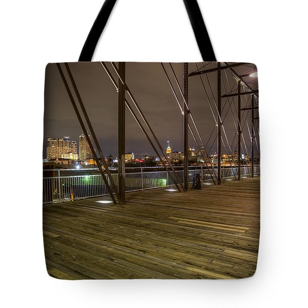 Downtown San Antonio From The Hays Street Bridge Tote Bag