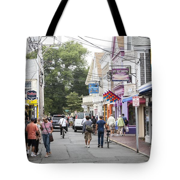 Downtown Scene In Provincetown On Cape Cod In Massachusetts Tote Bag