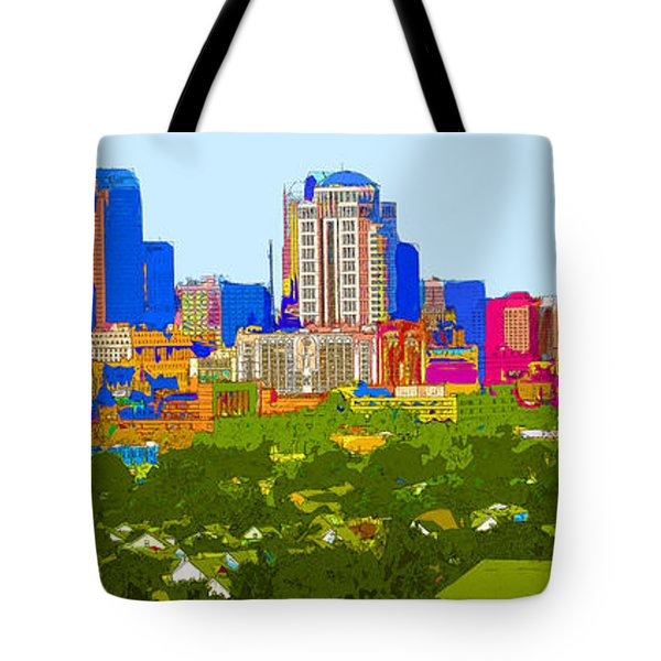 Downtown St. Louis From The Southwest Abstract Tote Bag