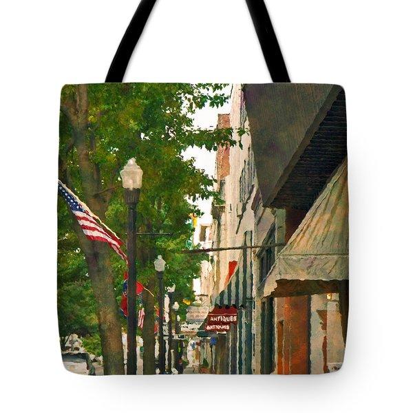 Downtown Usa Tote Bag