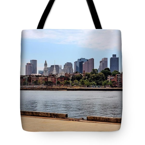 Downtown View In Boston Tote Bag by Boris Mordukhayev