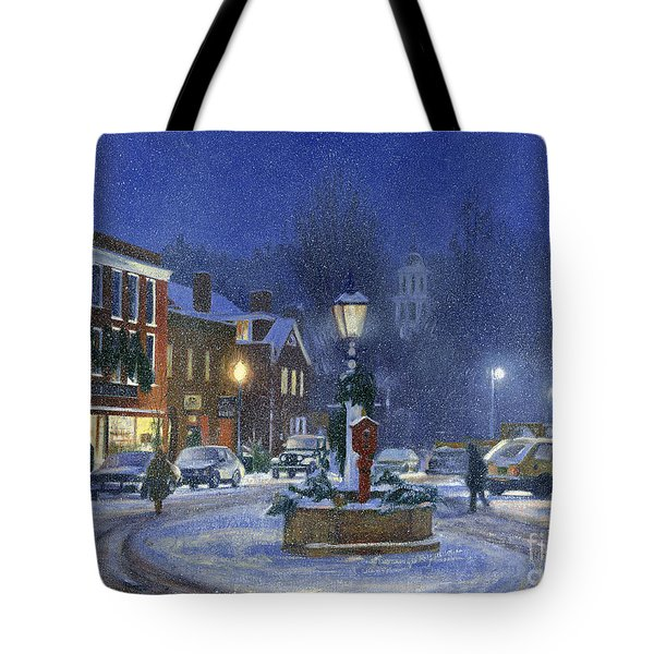 Downtown Woodstock Tote Bag by Candace Lovely
