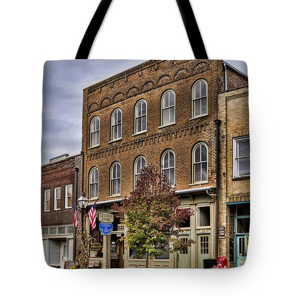 Dowtown General Store Tote Bag by Heather Applegate