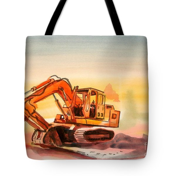 Dozer In Watercolor  Tote Bag