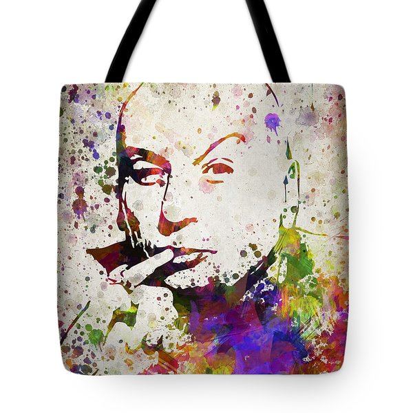 Dr Evil In Color Tote Bag