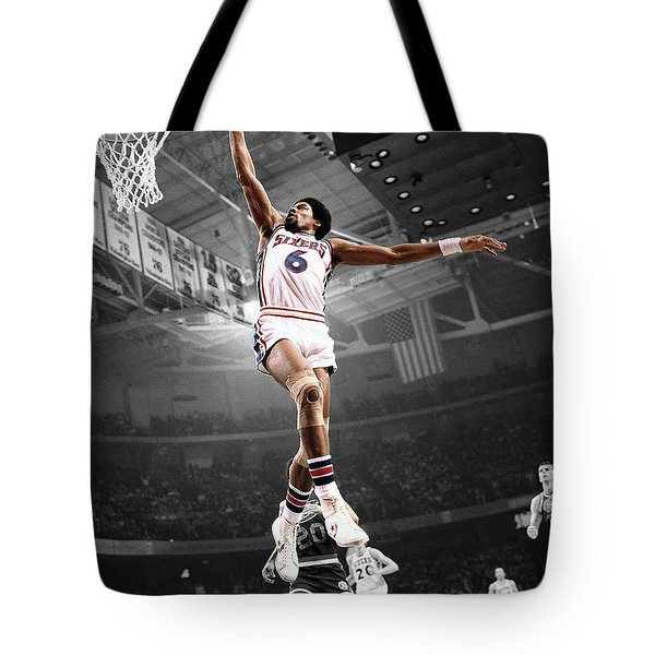 Dr J Tote Bag by Brian Reaves