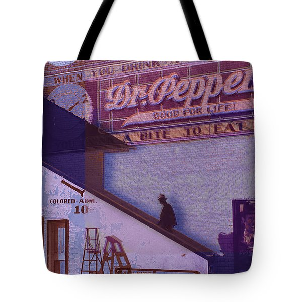 Dr Pepper Blues The Way It Was Tote Bag by Tony Rubino