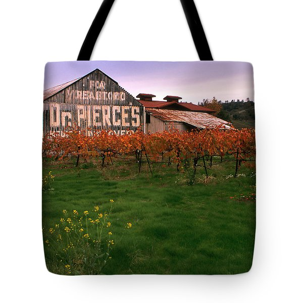 Dr Pierce's Barn Billboard Tote Bag by Jerry McElroy