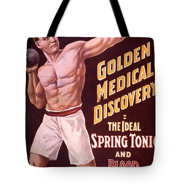 Dr Pierces Spring Tonic And Blood Tote Bag by Science Source
