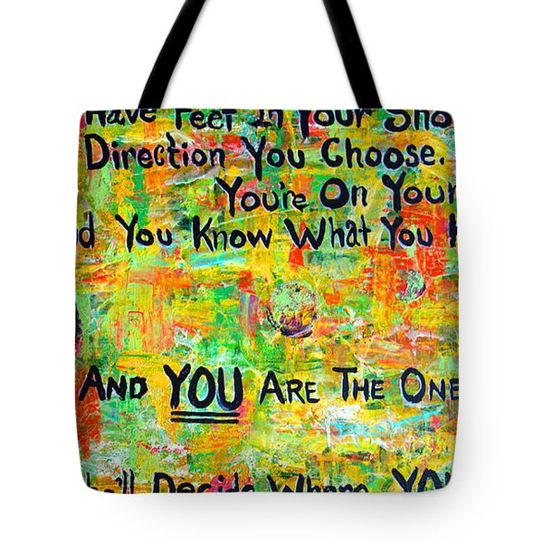 Tote Bag featuring the painting Dr. Suess by Jacqueline Athmann