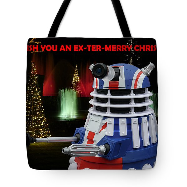 Dr Who - Dalek Christmas Tote Bag by Richard Reeve