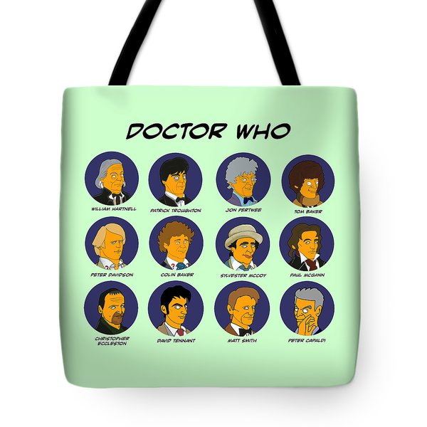 Dr Who Tardis Green Collection Tote Bag by Donna Huntriss