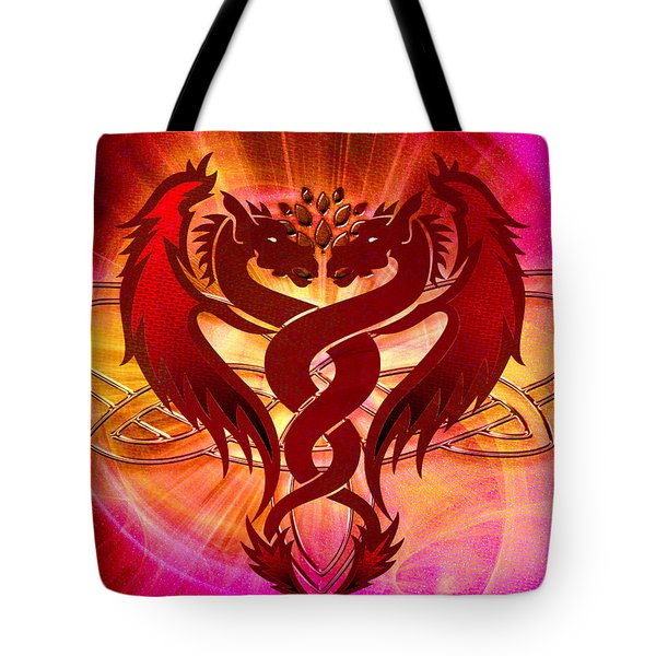 Dragon Duel Series 15 Tote Bag
