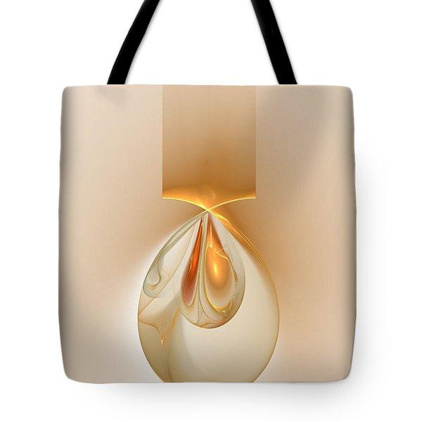 Tote Bag featuring the digital art Dragon Eggs Pendant by Richard Ortolano