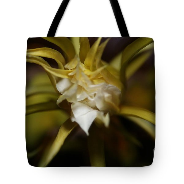 Tote Bag featuring the photograph Dragon Flower by David Millenheft