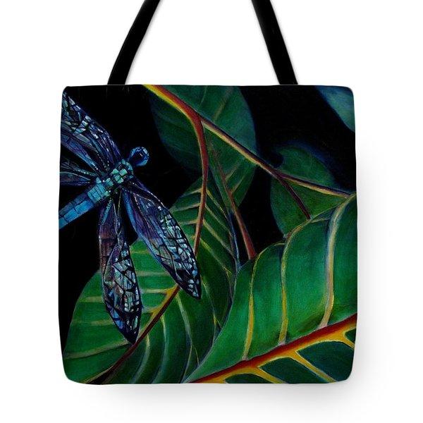 Dragon Fly Soaring - Botanical Tote Bag by Grace Liberator