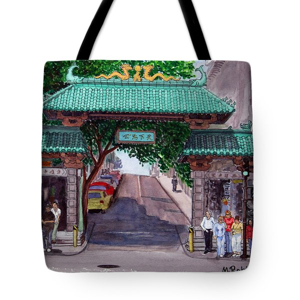 Dragon Gate Tote Bag by Mike Robles