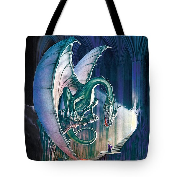 Dragon Lair With Stairs Tote Bag by The Dragon Chronicles - Robin Ko