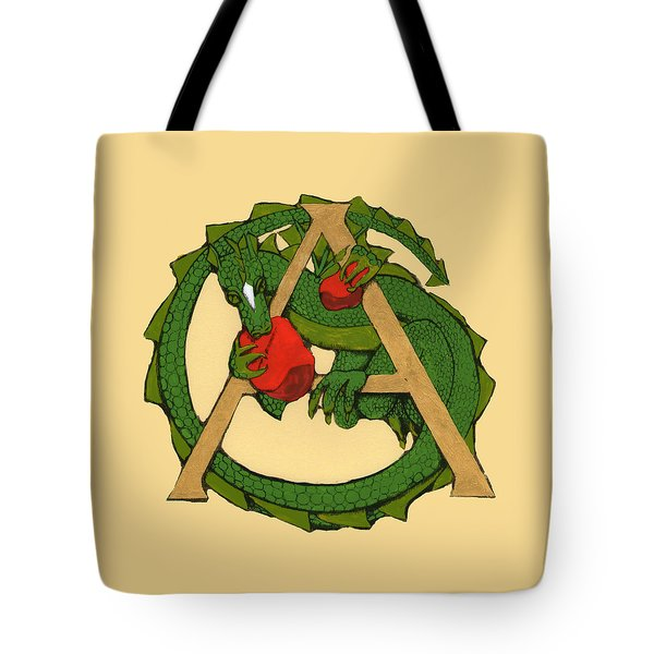 Dragon Letter A Tote Bag