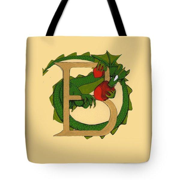 Dragon Letter B Tote Bag