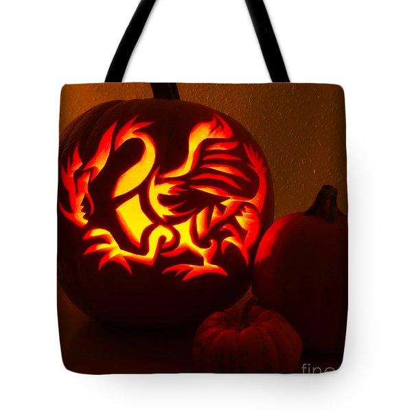 Dragon Light Of Fall Tote Bag