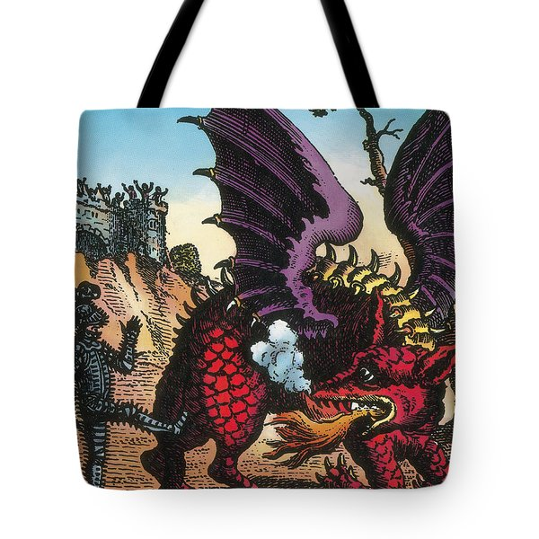 Dragon Of Wantley, 16th Century Tote Bag by Photo Researchers