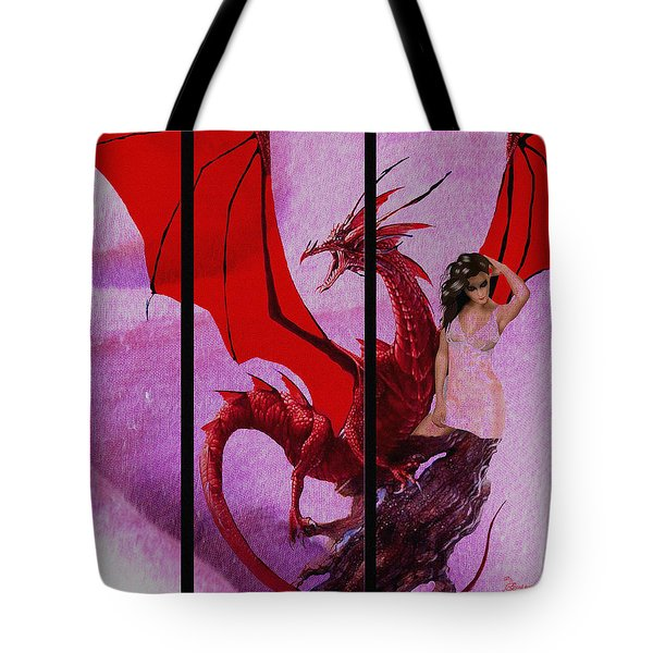 Dragon Power-featured In Comfortable Art Group Tote Bag by EricaMaxine  Price