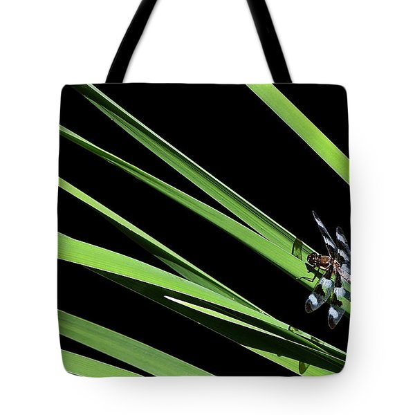 Dragon Resting On Blades Tote Bag