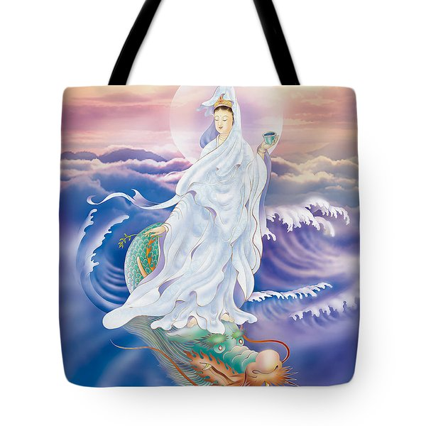 Dragon-riding Avalokitesvara  Tote Bag by Lanjee Chee