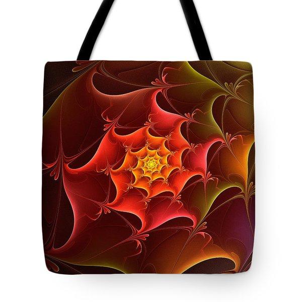 Dragon Scale Tote Bag by Anastasiya Malakhova