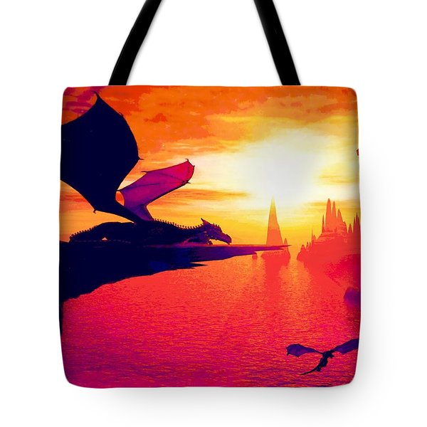 Awesome Dragon Tote Bag