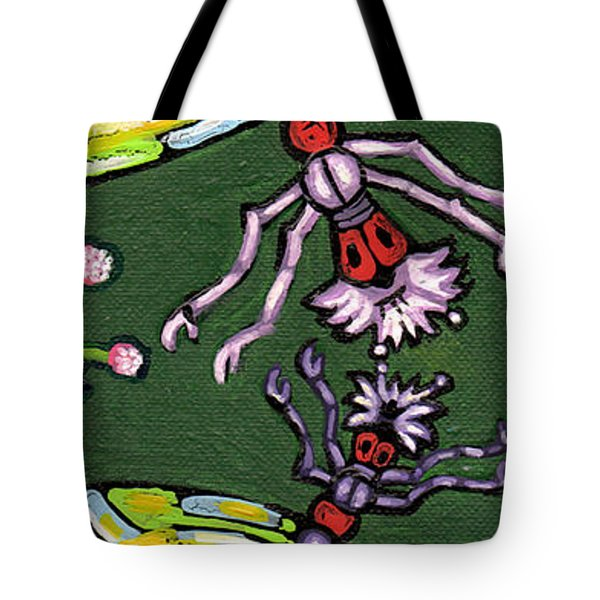 Dragonflies And Water Lilies Tote Bag by Genevieve Esson