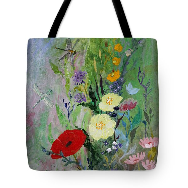 Dragonflies Dancing Tote Bag