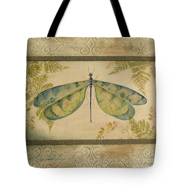 Dragonfly Among The Ferns-1 Tote Bag