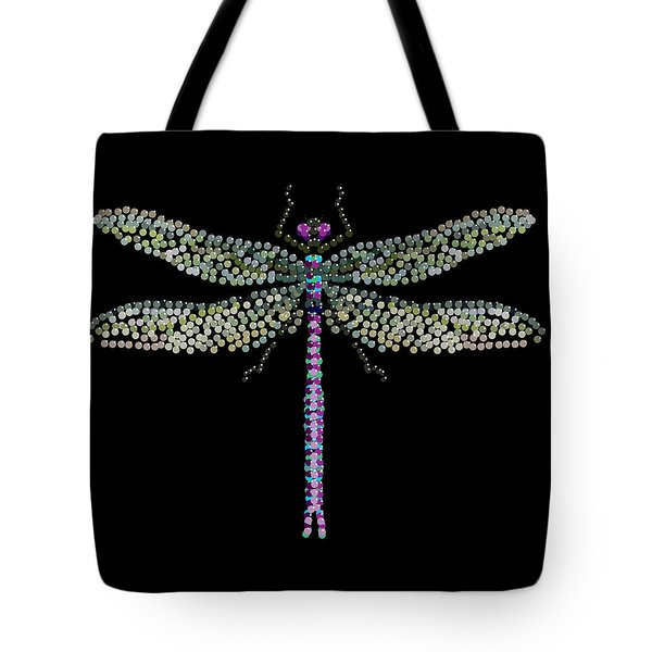 Dragonfly Bedazzled Tote Bag