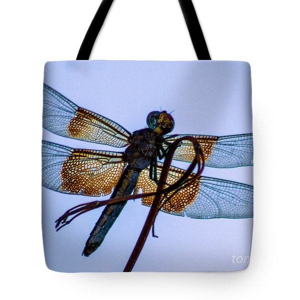 Dragonfly-blue Study Tote Bag