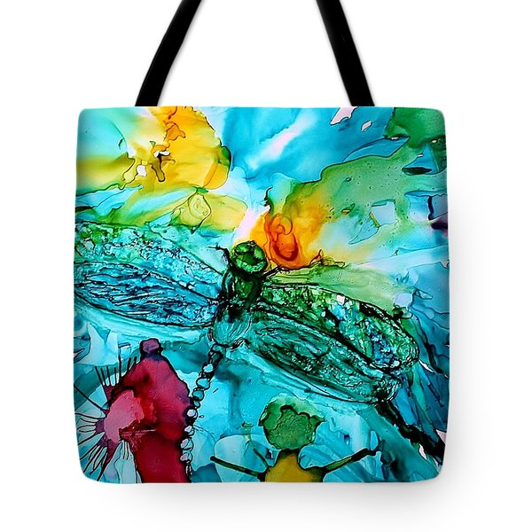 Dragonfly Blues Tote Bag