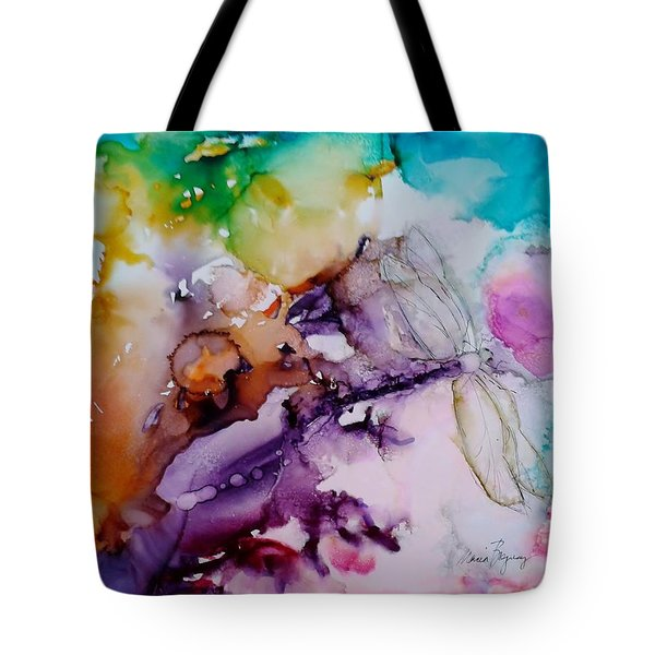 Dragonfly Cosmos Tote Bag